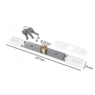 ZAMEK BASKWILOWY - długość 27,5cm,3 klucze
